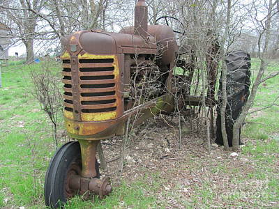 Old Tractor Art Print by Austin Clarke