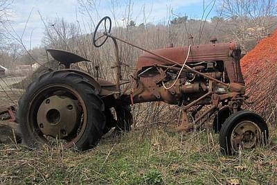 Old Tractor-clarks Farm Art Print