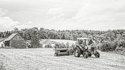 Photograph - Old Tractor Glover Northeast Kingdom Vermont by Edward Fielding