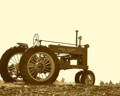 Photograph - Old Tractor IIi In Sepia by JD Grimes