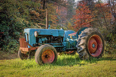 Photograph - Old Tractor In Farm Country by Debra and Dave Vanderlaan