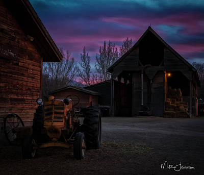 Go For Gold Rights Managed Images - Old Tractor Royalty-Free Image by Mitch Johanson