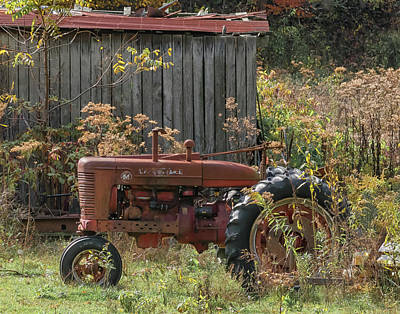 Photograph - Old Tractor On The Farm. by Richard Kopchock