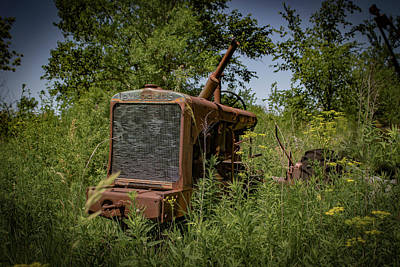 Photograph - Old Tractor by Ray Congrove
