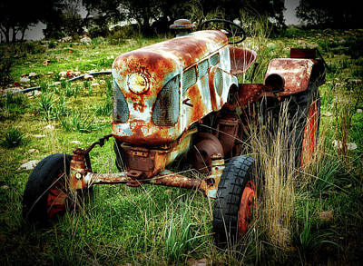 Photograph - Old Tractor by Ric Manzano
