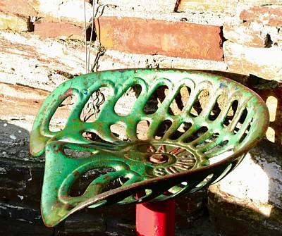 Photograph - Old Tractor Seat by Stephanie Moore