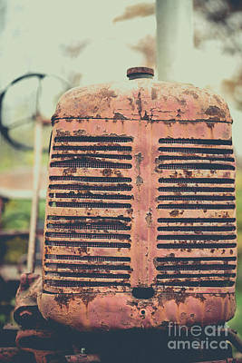Photograph - Old Tractor Vintage Look by Edward Fielding