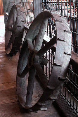 Photograph - Old Tractor Wheels by Viktor Savchenko