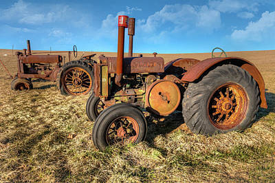 Photograph - Old Tractors Ready To Work by Dan Carmichael