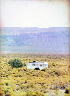 Photograph - Old Trailer In The Desert by Jill Battaglia