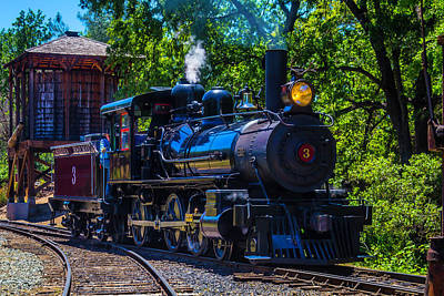 Deer Antler Photograph - Old Train And Water Tower by Garry Gay