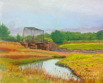 Pastel - Old Train Bridge -annapolis Royal  by Rae  Smith PAC