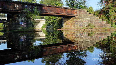 Photograph - Old Train Bridge by Erick Schmidt