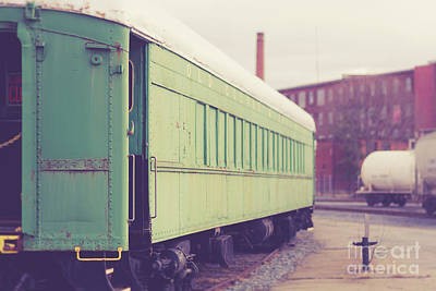 Photograph - Old Train Car Fall River by Edward Fielding