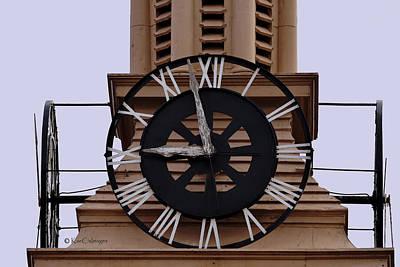 Digital Art - Old Train Depot Clock #2 by Kae Cheatham