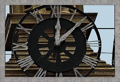 Digital Art - Old Train Depot Clock #3 by Kae Cheatham
