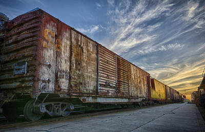Old Train - Galveston, Tx Art Print