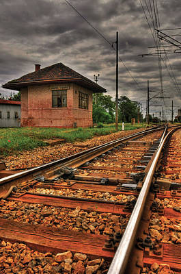 Photograph - Old Train Station by Don Wolf