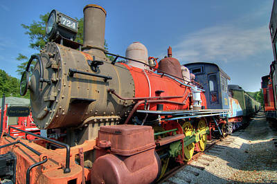 Photograph - Old Train by Steve Stuller