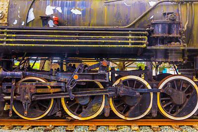 Old Train Wheels Art Print by Garry Gay