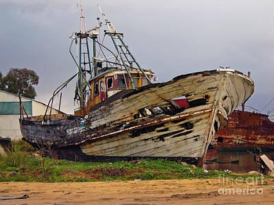 Shipyard Photograph - Old Trawler by Jose Elias - Sofia Pereira
