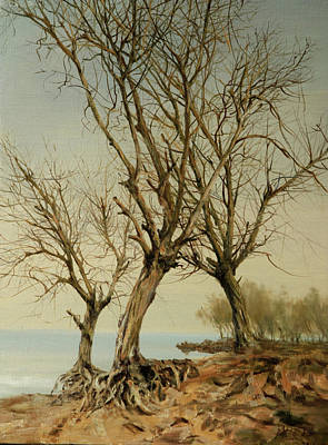 Outdoor Still Life Painting - Old Tree-yelling At The Sky by Dengke Zhang
