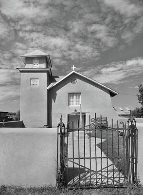 Religious Artist Photograph - Old Truchas Mission, Monochrome by Gordon Beck