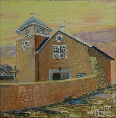 Painting - Old Truches Mission Of Holy Rosary -- Sold by Judith Espinoza