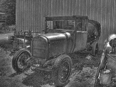 Photograph - Old Truck 4 Pencil by Lawrence Christopher