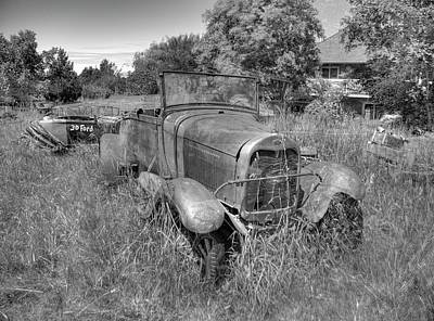 Photograph - Old Truck 6 Bandw by Lawrence Christopher