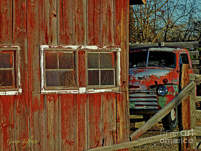 Photograph - Old Truck And Barn by George Tuffy