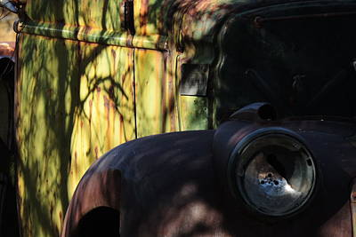 Photograph - Old Truck And Tree Shadows by Bill Tomsa