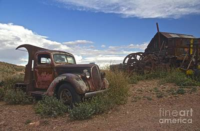 Broken Down Photograph - Old Farm Truck by Anthony Jones