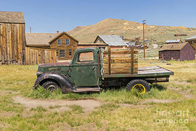 Photograph - Old Truck At The Ghost Town Of Bodie California Dsc4375 by Wingsdomain Art and Photography