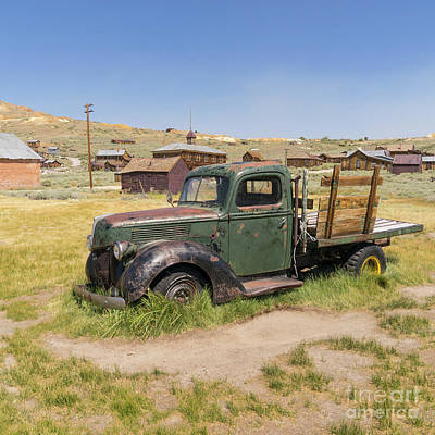 Photograph - Old Truck At The Ghost Town Of Bodie California Dsc4380sq by Wingsdomain Art and Photography
