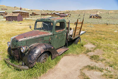 Old Truck At The Ghost Town Of Bodie California Dsc4395 Art Print by Wingsdomain Art and Photography