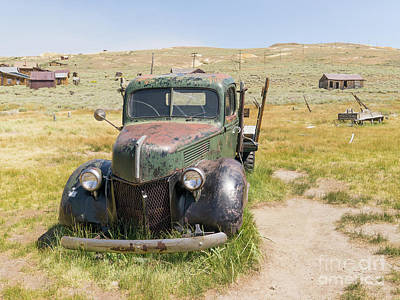 Photograph - Old Truck At The Ghost Town Of Bodie California Dsc4399 by Wingsdomain Art and Photography