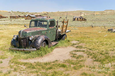 Old Truck At The Ghost Town Of Bodie California Dsc4404 Art Print by Wingsdomain Art and Photography