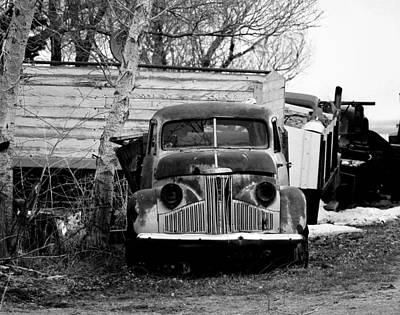 Old Truck Baw Corinth North Dakota Art Print by Jeff Swan