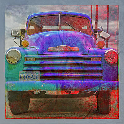 Photograph - Old Truck Face Lift by Susan Stone