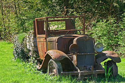 Old Truck II C1002 Art Print by Mary Gaines