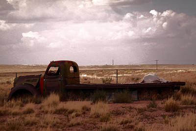Old Trucks Photograph - Old Truck In A Pasture by Jeff Swan