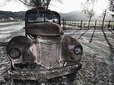Old Truck In Napa Valley Art Print by George Oze