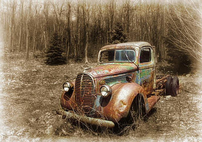 Photograph - Old Truck In The Meadow by Carolyn Derstine