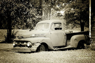 Photograph - Old Truck by Inspirational Photo Creations Audrey Taylor