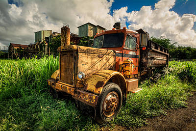 On Trend At The Pool - Old Truck by James Liddil