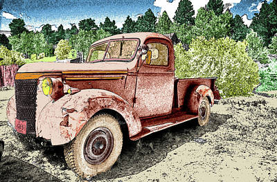 Photograph - Old Truck by James Steele