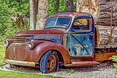 Photograph - Old Truck by Jean OKeeffe Macro Abundance Art