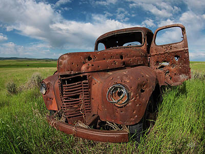 Broken Down Photograph - Old Truck by Leland D Howard