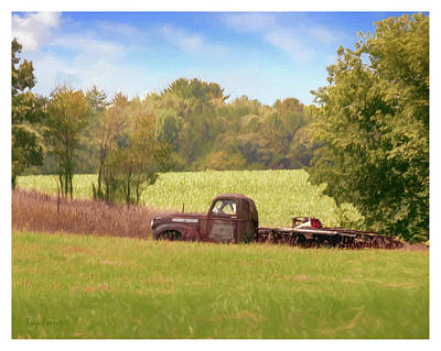 Photograph - Old Truck On Back 40 by Trey Foerster